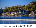 Boathouse Row In Philadelphia.