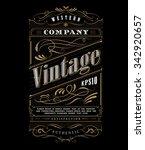 Vintage typography western frame label border vector illustration   Shutterstock vector #342920657