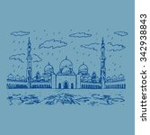 sheikh zayed grand mosque in... | Shutterstock .eps vector #342938843