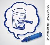 coffee maker doodle   Shutterstock .eps vector #342939707