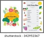 kids menu. vector template. | Shutterstock .eps vector #342952367