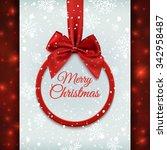 merry christmas round banner... | Shutterstock .eps vector #342958487