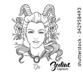 zodiac. vector illustration of... | Shutterstock .eps vector #342958493