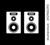 the audio icon. speaker and...   Shutterstock .eps vector #342960293