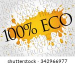 100  eco word cloud concept | Shutterstock .eps vector #342966977