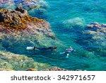 snorkeling  cap de peyrefite ...   Shutterstock . vector #342971657