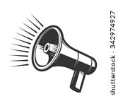 megaphone on white background | Shutterstock .eps vector #342974927