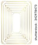 decorative gold frame set... | Shutterstock .eps vector #342978473
