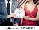 clock men and women | Shutterstock . vector #342984833