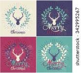 christmas greeting card | Shutterstock .eps vector #342995267
