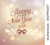 happy new year greeting card | Shutterstock .eps vector #342995357