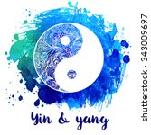yin and yang decorative symbol. ... | Shutterstock .eps vector #343009697