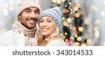 winter  fashion  couple ... | Shutterstock . vector #343014533