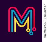 m letter formed by electric... | Shutterstock .eps vector #343032647