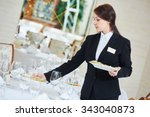 restaurant catering services.... | Shutterstock . vector #343040873