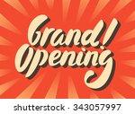 grand opening banner. | Shutterstock .eps vector #343057997