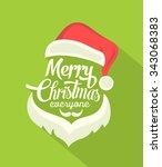 christmas typographic... | Shutterstock .eps vector #343068383