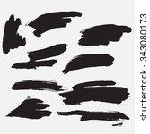 splash banner. ink background.... | Shutterstock .eps vector #343080173