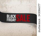 black friday sale ribbon.... | Shutterstock .eps vector #343086377