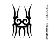 tattoo tribal vector design... | Shutterstock .eps vector #343100513
