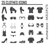 clothing icons. | Shutterstock .eps vector #343119173