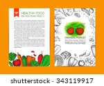 food design template. vintage... | Shutterstock .eps vector #343119917