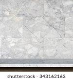 empty top of natural stone... | Shutterstock . vector #343162163