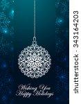 winter holidays ornate... | Shutterstock .eps vector #343164203