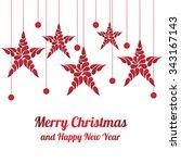 christmas decorations star... | Shutterstock .eps vector #343167143