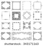 set of vintage christmas and... | Shutterstock . vector #343171163
