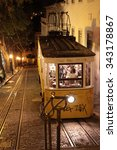 Small photo of old tram in Lisbon