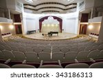 Small photo of MOSCOW, 13 NOVEMBER, 2015: View of the stage of the concert hall at the Central Music School at the Moscow State Conservatory Tchaikovsky in Moscow, Russia