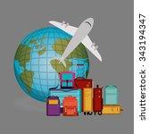 airport industry design  vector ... | Shutterstock .eps vector #343194347