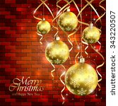 holiday background with golden... | Shutterstock . vector #343220507