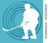 ice hockey player in winter... | Shutterstock .eps vector #343225643
