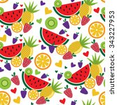 seamless pattern with colorful... | Shutterstock .eps vector #343227953