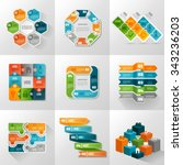 infographic templates icons... | Shutterstock .eps vector #343236203