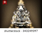 christmas typographical... | Shutterstock .eps vector #343249397