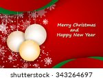 christmas greeting card.vector... | Shutterstock .eps vector #343264697