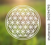 Vector Flower Of Life Symbol O...