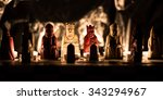 replica lewis chess set lit by...   Shutterstock . vector #343294967