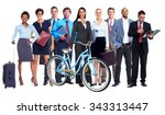 group of business people... | Shutterstock . vector #343313447