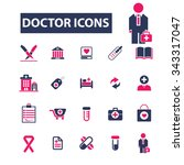 doctor  clinic  icons  signs... | Shutterstock .eps vector #343317047