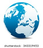 north pole europe top of the... | Shutterstock .eps vector #343319453