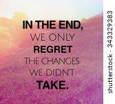 inspirational typographic quote ... | Shutterstock . vector #343329383