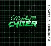 cyber monday  online shopping... | Shutterstock .eps vector #343329743