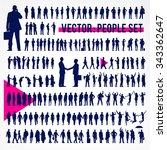 vector business people... | Shutterstock .eps vector #343362647
