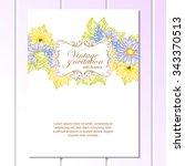 vintage delicate invitation... | Shutterstock .eps vector #343370513