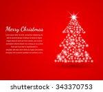 christmas background vector... | Shutterstock .eps vector #343370753