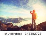 young asian woman backpacker...   Shutterstock . vector #343382723